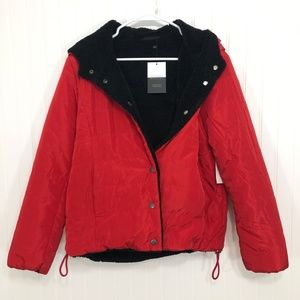 Sanctuary Reversible Hooded Puffer Jacket Size S